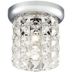 Possini Euro Delia Chrome Crystal Halogen Ceiling Light - #EUX8865 - Euro Style Lighting
