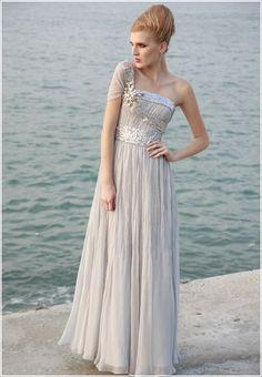 Elégante robe de soirée une bretelle