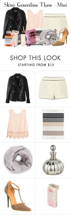 """""""Minerva McGuinness"""" by thequeenofreading ❤ liked on Polyvore featuring Luv Aj, Yumi, Lush Clothing, J.Crew, Tory Burch, Shabby Chic, Office and Børn"""