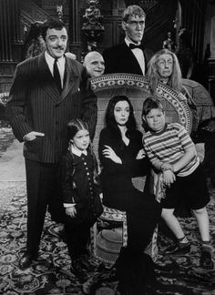 The cast of ABC's The Addams Family, 1964.  ed: I'd be a different person if I hadn't watched this show.... sigh