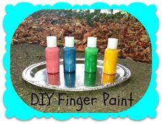 DIY Finger paints for kids