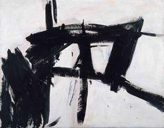 """Reduktion der Farbe, Expansion des Strichs: Franz Klines Gemälde """"Vawdavitch"""" von 1955, 204,9 mal 158,1 Zentimeter groß"""