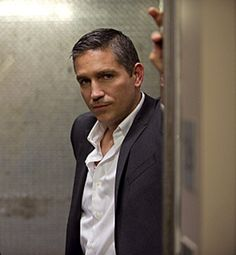 Jim Caviezel as tough guy John Reese... in a suit of course!