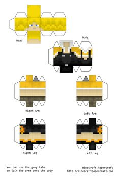 Minecraft Papercraft Sips and Sjin (yogscast) Astronaut President of Sipsco Enterprises. Minecraft Real Life, Minecraft Skins, Minecraft Crafts, Minecraft Party, Minecraft Ideas, Mind Craft Birthday Party, Mini Craft, Paper Toys, Projects For Kids