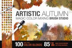 Artistic Autumn Paint Brush Studio by Creators Couture on @creativemarket