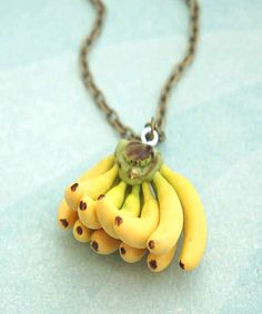 This banana bunch necklace: