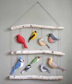 Felt Crafts Diy, Bird Crafts, Felt Diy, Handmade Felt, Nature Crafts, Fabric Crafts, Fun Crafts, Felt Mobile, Bird Mobile