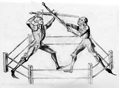There is a history of Western martial arts every bit as rich and sophisticated as that found in the East. This image is from a 15th century manual by Hans Talhoffer, demonstrating the Mordschlag or murderstroke and the counter to it. A sword isn't particularly effective against full plate. the Mordschlag basically used the sword as a hammer, delivering the impact with either the pommel or crossguard.