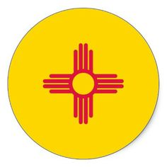 SOLD, 1 sheet of New Mexico State Flag Round Stickers #zazzle