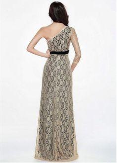 En Chic Stock encaje de un solo hombro de la envoltura del vestido de noche