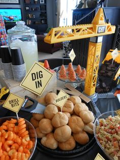 Food at a Construction Party #construction #partyfood