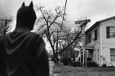 Batman takes a moody road trip across Texas.