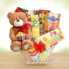 Birthday Party Bear 7299 Happy Wishes Abound In This Adorable And Festive Basket Our