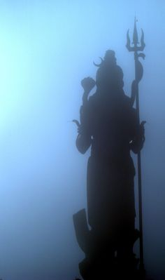 Shiva ~ 108 feet shiva in the fog at Grand Bassin, Mauritius