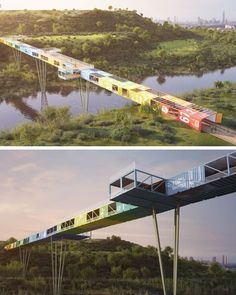 The World's First Shipping Container Bridge by Yoav Messer Architects