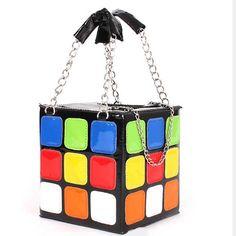 Tigerstars l $28.00 Unique Multi Color Rubik's Cube Case Shoulder Bag