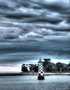 Ile Tudy - Finistère Lighthouses, Europe, Clouds, Black And White, Outdoor, Light House, Cornwall, The Mansion, Welcome