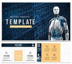 AI - Robot Technology Keynote templates