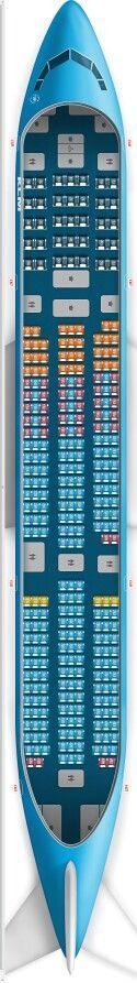 KLM 777-200 Seat Map