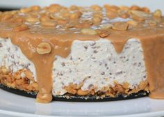 Candy Recipes, Baking Recipes, Dessert Recipes, Snickers Cheesecake, Cheesecake Recipes, Swedish Recipes, Sweet Recipes, Cookie Cake Pie, Something Sweet