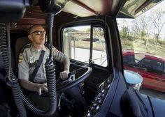 Tennessee Highway Patrol using semi-trucks