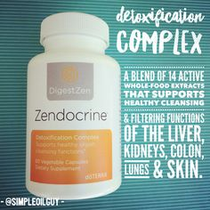 Looking for a simple detox? This blend called Zendocrine has 14 active whole-food extracts that support healthy cleansing and filtering functions of the liver, kidneys, colon, lungs and skin. I use it and recommend it. Let us know if interested or have questions...  #detox #cleansing #naturalhealth #naturallyhealthy #alternativehealth #healthy