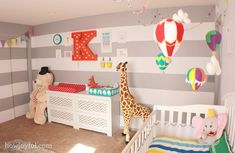 How Joyful | Colorful circus gender neutral nursery for baby Peanut – The reveal!