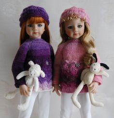 Fiche Tricot : Flocon - patron tricot - Le Dressing des Poupées - Fait Maison