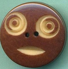 Antique Button...Wonderful Carved Vegetable Ivory FACE