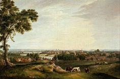 View of Salem from Gallows Hill, Alvan Fisher (1792-1863), Salem, MA, 1818, oil on canvas