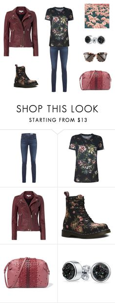 """""""Flower & Skull"""" by tererock ❤ liked on Polyvore featuring AG Adriano Goldschmied, Alexander McQueen, IRO, Dr. Martens, Bottega Veneta, Bling Jewelry and Gentle Monster"""