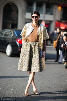 Giovanna Battaglia at Stella McCartney #streetstyle #fashion #giovannabattaglia FW2013 on http://www.gastrochic.com