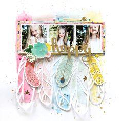 HAPPY by Lorilei Murphy - Designer Spotlight with Paige Evans: Lorilei Murphy - Stamp & Scrapbook EXPO #Designingascrapbook