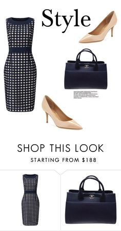"""""""141"""" by meldiana ❤ liked on Polyvore featuring Phase Eight, Chanel and Salvatore Ferragamo"""