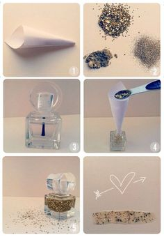 DIY Glitter Polish Tutorial