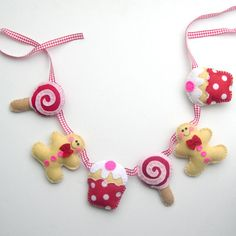 Christmas Sweet Treats Candy Gingerbread Felt Food Garland £25.00