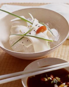 Cold Tofu Salad with Soy Ginger Dipping Sauce-- use Sushi Chef Sesame Soy Salad dressing for your dipping sauce!