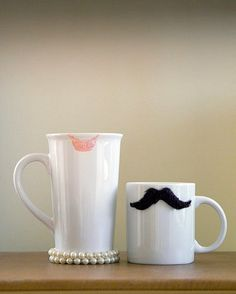 Really cute his and hers mugs