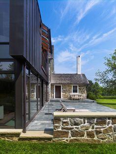 Modern Addition for 18th Century Farmhouse,Chester County, Pennsylvania