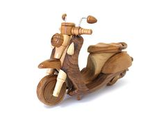 Wooden Toy Motorcycle 02 in Handmade by MoreThanWoodShop on Etsy
