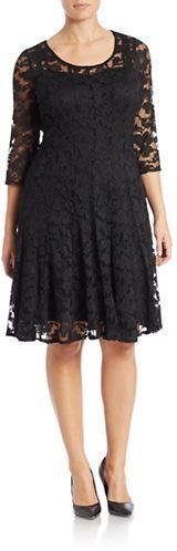 Plus Size Lace A-Line Dress