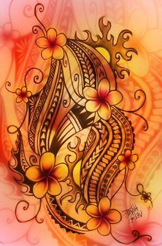 colour scheme polynesian art | Tumblr red, yellow