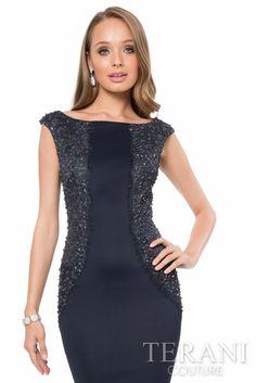 1d4f9e5d00 Terani Couture - 2016 Cocktail Dress Style  1613C0125  cocktaildress   shortdress  sleevelessdress