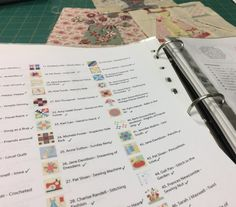 There are so many ways to organise your 100 + Splendid blocks. Whether it is in folders, boxes or pinned to your design wall, it's always handy to have a list to mark with a tick as you complete a blo