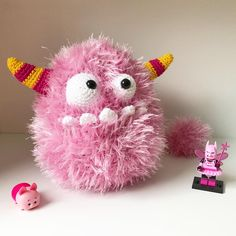 Pink Toys! The pattern of this cute monster will be in the new AmigurumiPatterns.net book: Amigurumi Monsters!
