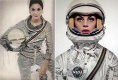 ¿QuiéN Luce Mejor Traje De Astronauta En El No. De Abril De 1965 De Harper'S Bazaar, Fotografiada Por Richard Avedon? Naty Versus Jane