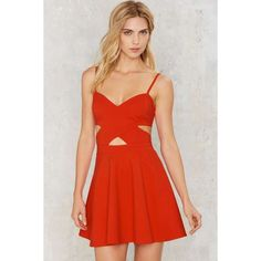 Set the World on Fire Mini Dress (£59) ❤ liked on Polyvore featuring dresses, orange, fit and flare mini dress, short fit and flare dress, fit flare dress, red dress and red zipper dress