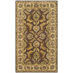 @Overstock - Handmade Heritage Kerman Brown/ Ivory Wool Rug (4' x 6') - This floor rug has a brown background and an ivory border and displays stunning panel colors of green, blue, red, ivory and gold.    http://www.overstock.com/Home-Garden/Handmade-Heritage-Kerman-Brown-Ivory-Wool-Rug-4-x-6/5042423/product.html?CID=214117  $102.59