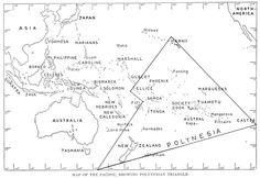 Eastern hemisphere: Polynesian map