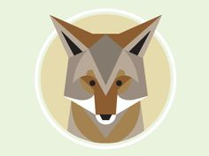 Cute print to go on E's bedroom walls. Coyote by Brad Woodard